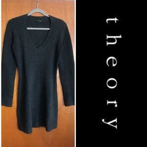 Theory fitted sweater dress